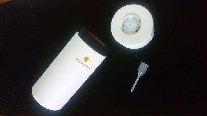Портативный кожаный тубус хьюмидор для сигар Cohiba