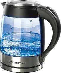 Стеклянный чайник GOURMETmaxx со светодиодным освещением 1,8 л