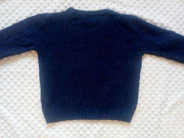 Вязаный натуральный свитер, кофта, джемпер на мальчика 4-5 лет
