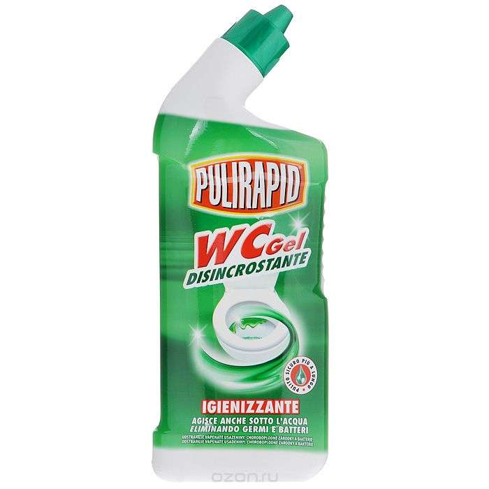 Дезинфицирующий гель для чистки унитазов Madel Pulirapid (0,75 л.)