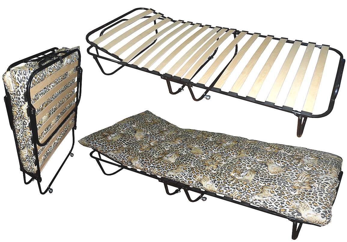 Розкладачка-ліжко з підголовником (раскладушка, раскладная кровать)