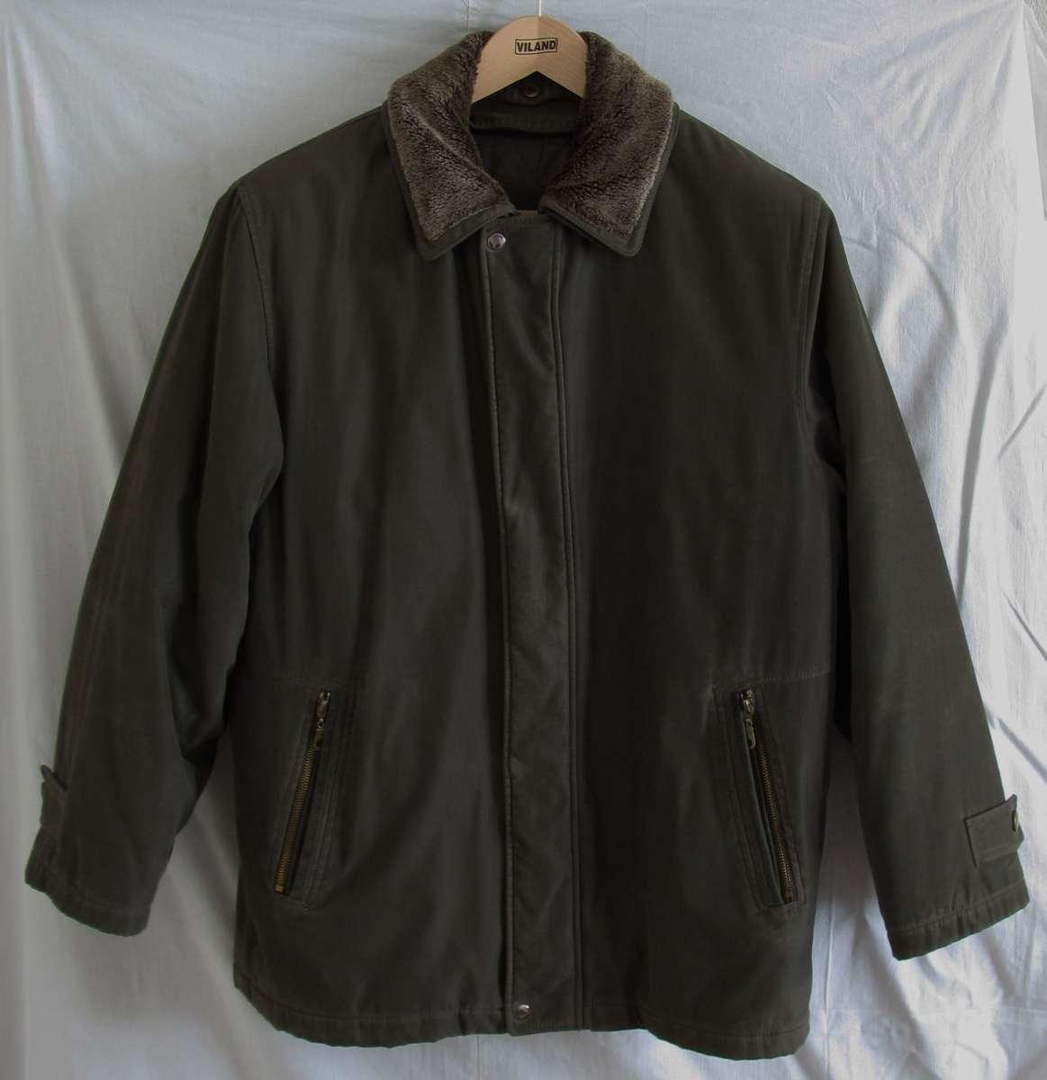 77efcdc33b71 Теплая мужская зимняя куртка VIZANI с меховым воротником.