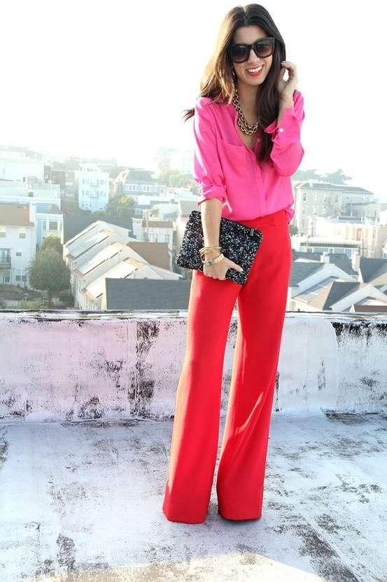Стильные красные брюки от Essentials, р.англ.16, L-ка