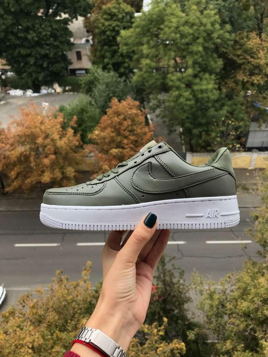 Кроссовки nike air force, найки оливковые