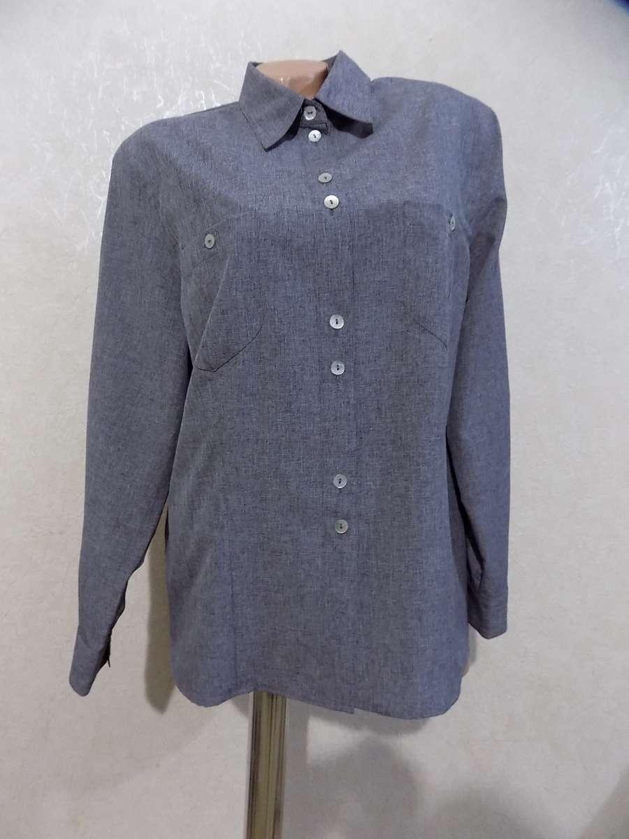 Рубашка блузка серая размер 52