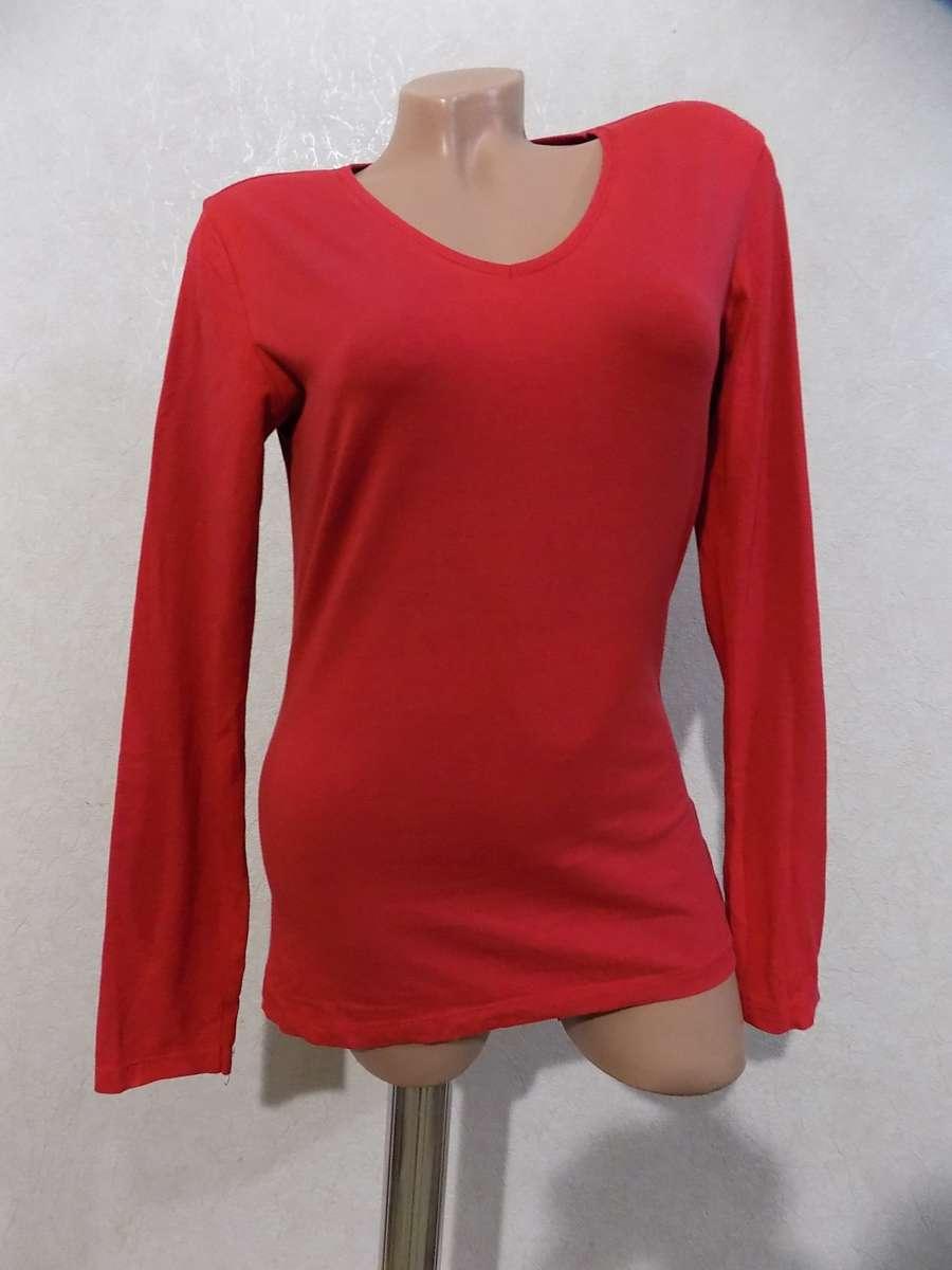 Кофта джемпер пуловер красный фирменный ETAM размер 46-48