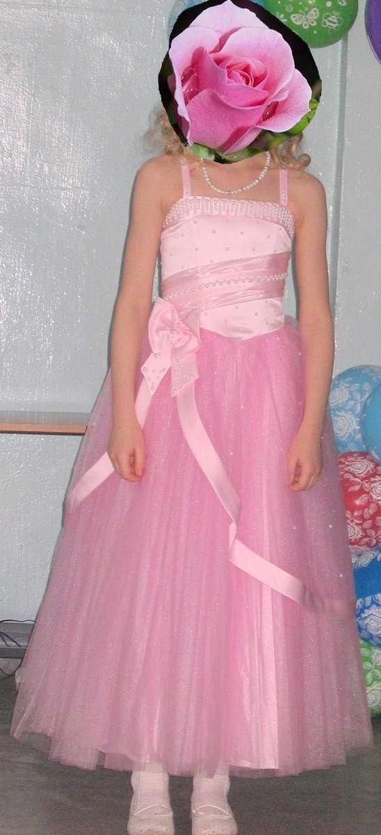 Нарядное бальное платье на возраст 10-12 лет