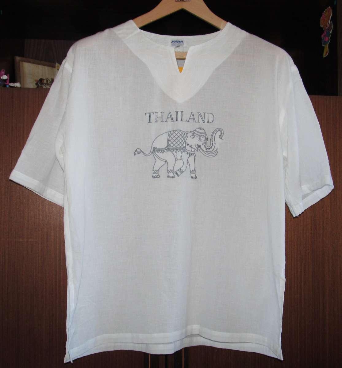 Рубашка мужская летняя из хлопка. Размер: XXXL (54-56). Таиланд.