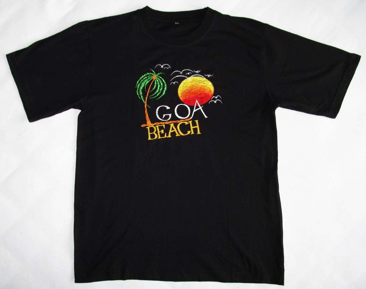 Стильная индийская футболка GOA beach. Размер: XL (50-52). Handmade.
