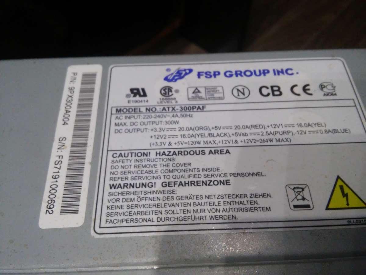 Компьютерный Блок питания мощностью 300W (БУ)