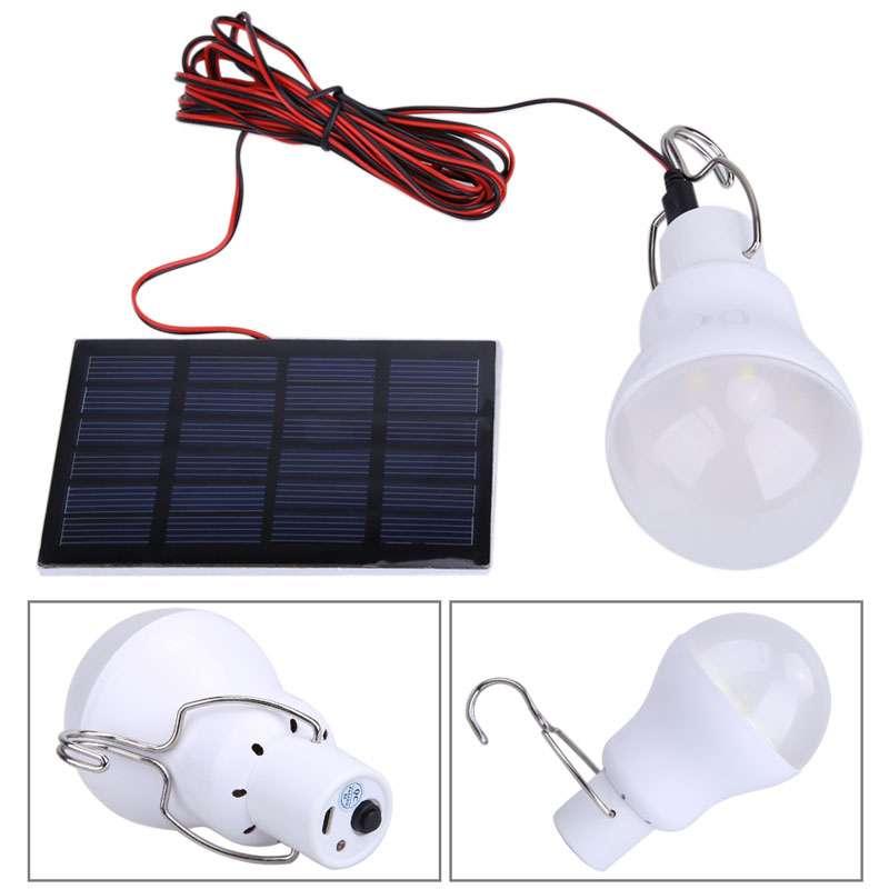 Лампочка на аккумуляторе для гаража, кладовки... + солнечная батарея