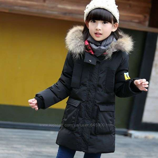 Теплая куртка пуховик для девочки