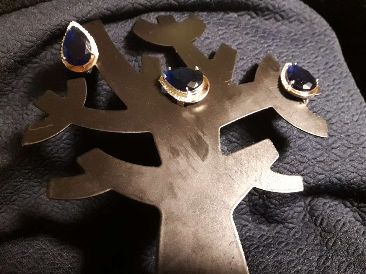 Комплект серьги+кольцо серебро