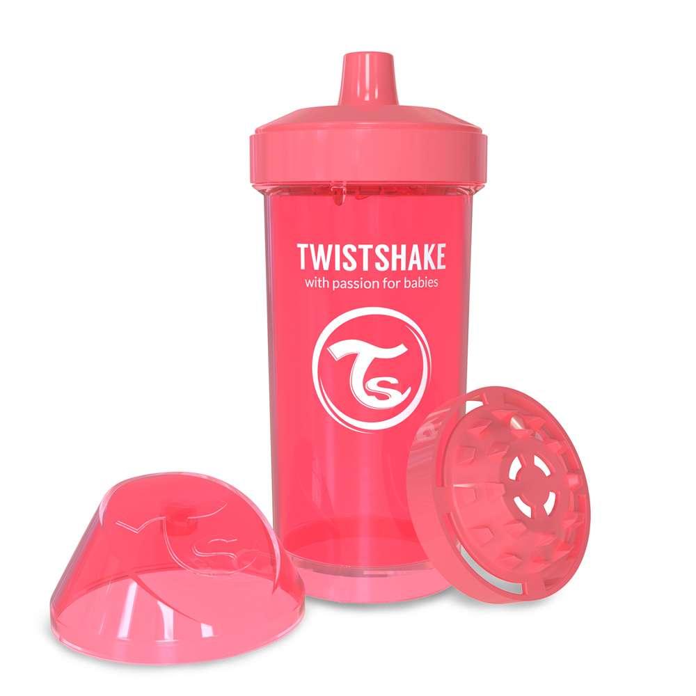 Детская чашка-непроливайка 360 мл. Twistshake Швеция персик 12124907
