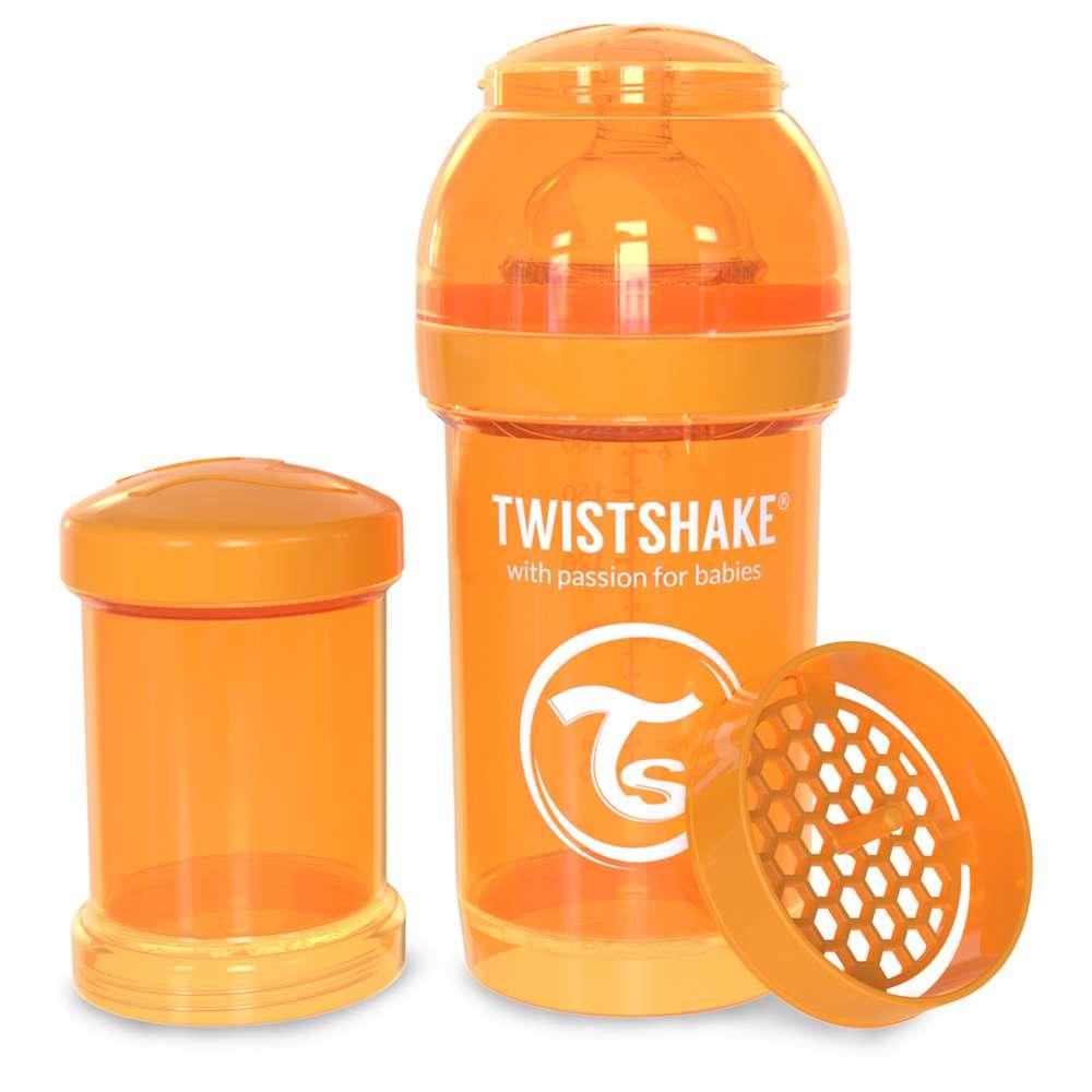 Бутылочка антиколиковая 180 мл. Twistshake Швеция оранжевый 12124848