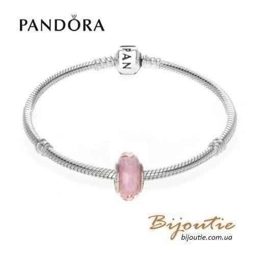 PANDORA Шарм ― ограненное розовое мурано 791068