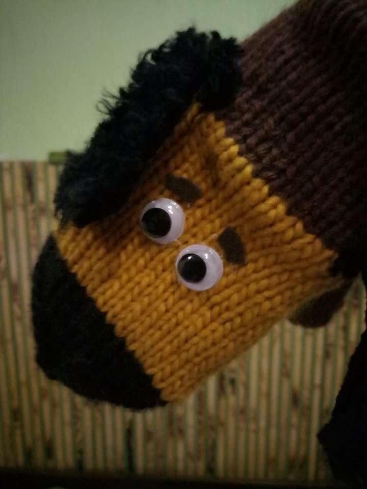 Варежки рукавички собачки (Hand Made)