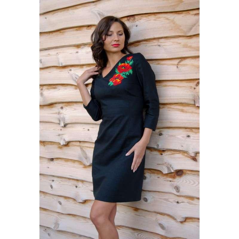 Ексклюзивне плаття-футляр з ручною вишивкою бісером dfba09625ac70