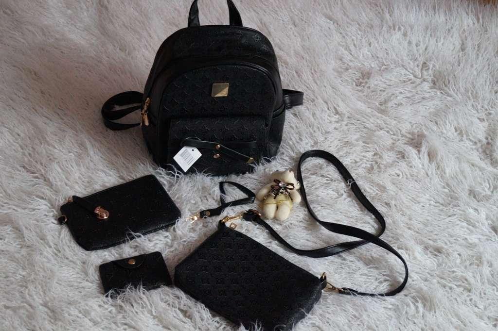 Рюкзак городской, набор, подарок, черный новый