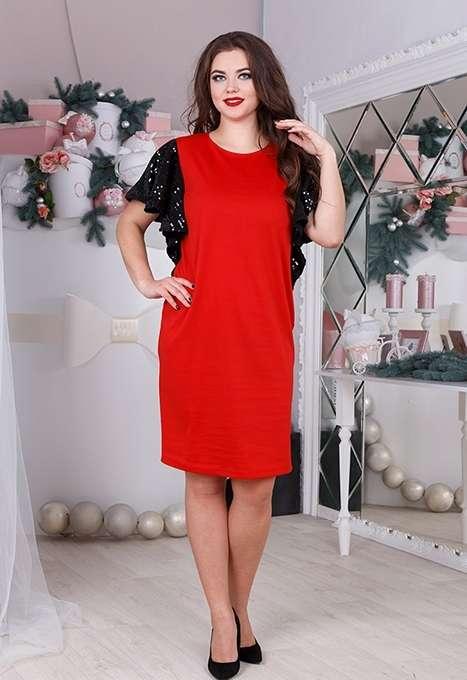 Праздничное платье с воланами