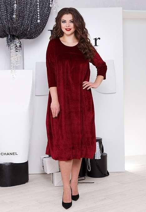 Интересное велюровое платье