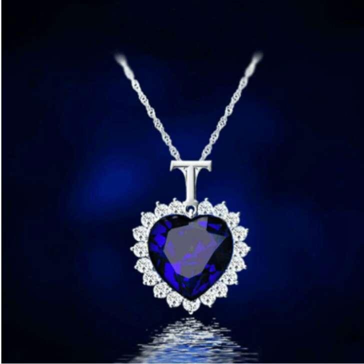 TITANIK OCEAN HEART SWAROWSKI подарочные ожерелья и серьги лучший пода