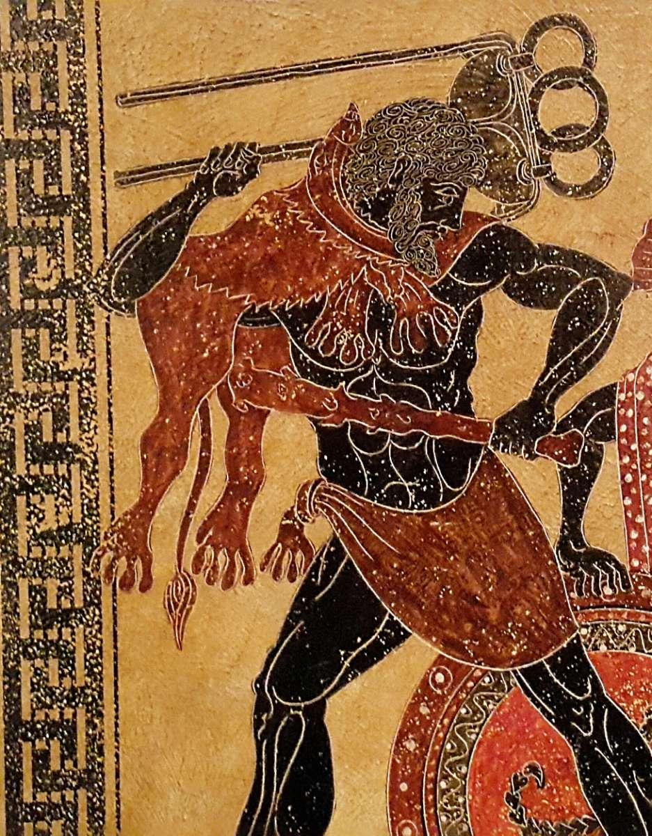 Большое панно.Ручная роспись по легендам и мифам древней Греции.