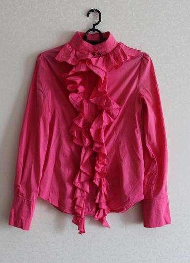 Яркая, розовая блуза,рубашка,акция