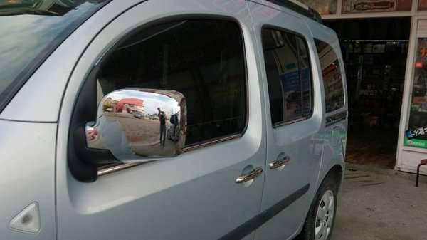 Хром накладкм на зеркала Renault Kangoo 08-13