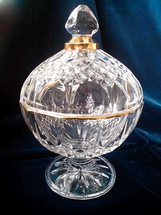 Винтажная конфетница Cristal d'Arques (Франция) начало 70-х