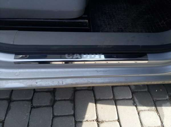 Volkswagen Caddy 04+ Хром накладки на пороги