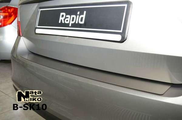Skoda Rapid 12+ Хром накладка на задний бампер