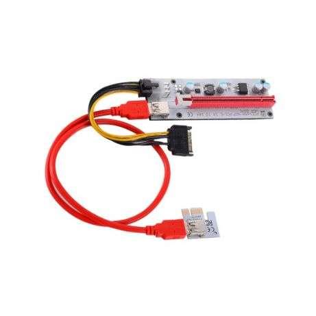 Райзер PCI-E 6-pin ver.007С.LED
