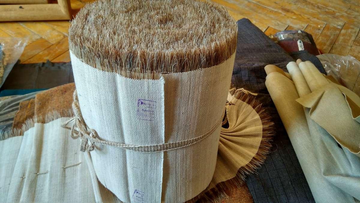 Льняная ткань с ворсом