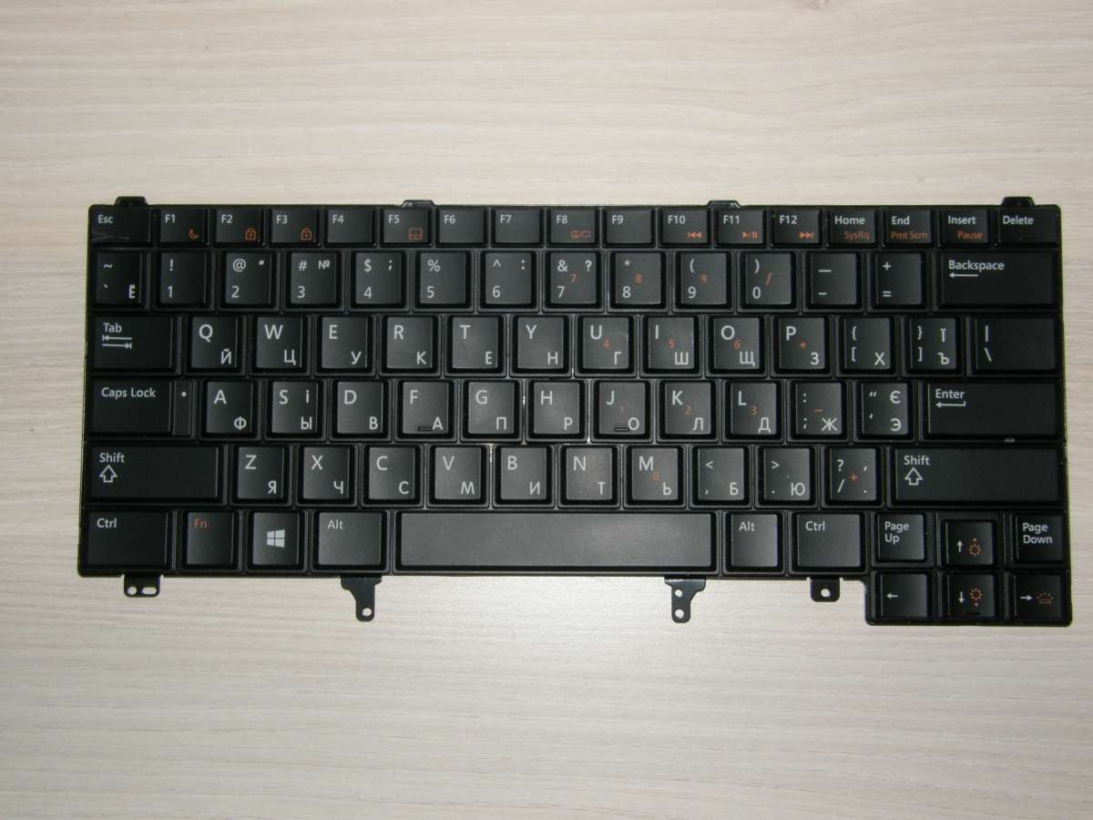 "Клавиатура с подсветкой EN/RU/UA для ноутбука Dell Latitude 14"""