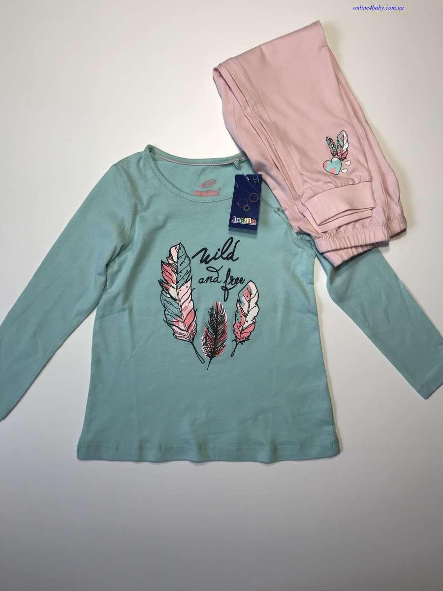 Пижама детская Lupilu на девочку 1-2, 2-4, 4-6 лет, рост 86/92,98/104,
