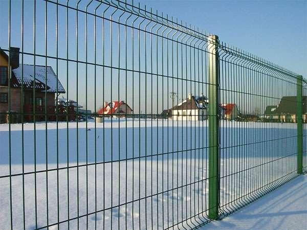 Забор секционный из сварной сетки панельного типа «РУБЕЖ» 3D