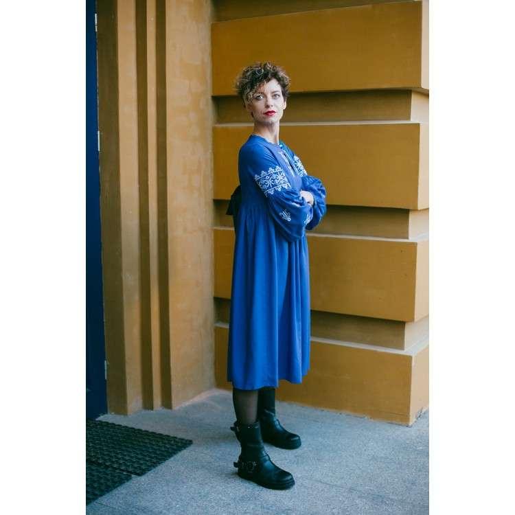 Плаття вишите блакитне