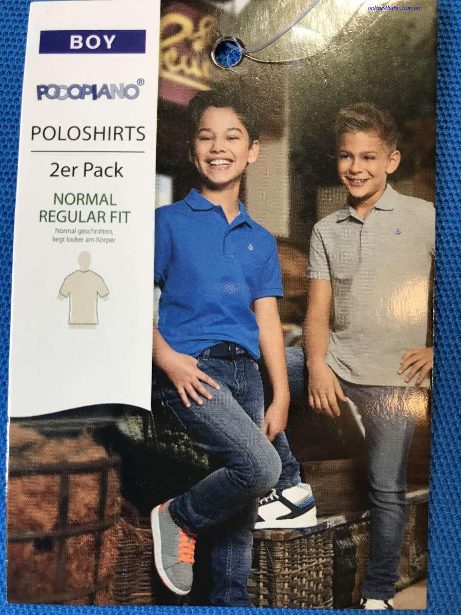 Детская тенниска поло Pocopiano на мальчика 5-6, 7-8, 11-12 лет рост 1