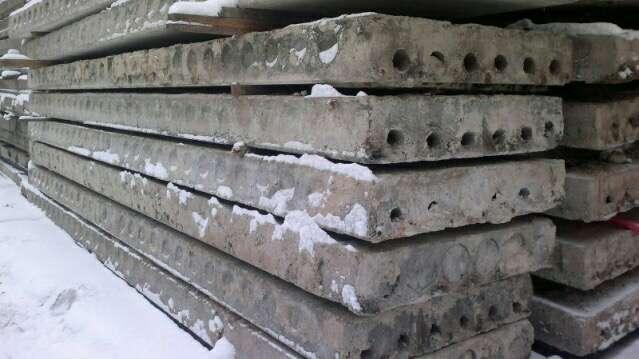 Плиты перекрытия пустотные 5,9х1,2 б/у