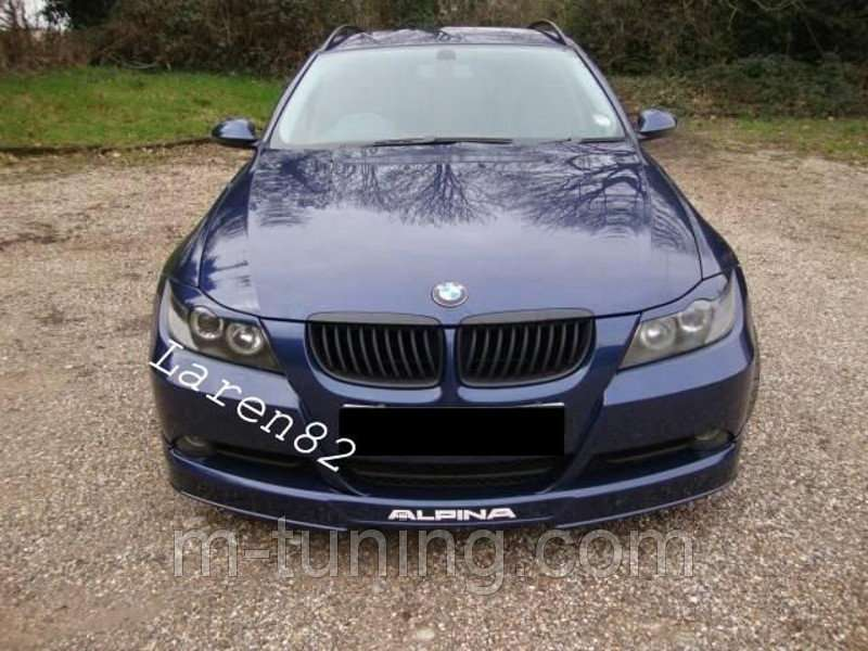 Накладка переднего бампера губа тюнинг обвес BMW E90 стиль Alpina