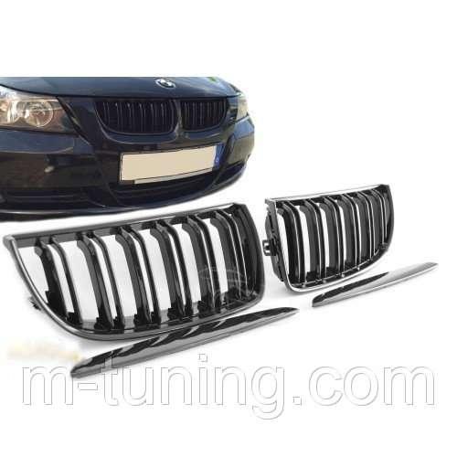 Ноздри решетка радиатора тюнинг BMW E90 E91 стиль M3 БМВ Е90 Е91 М3