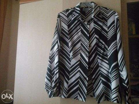 Рубашка, блузка чёрно-белая