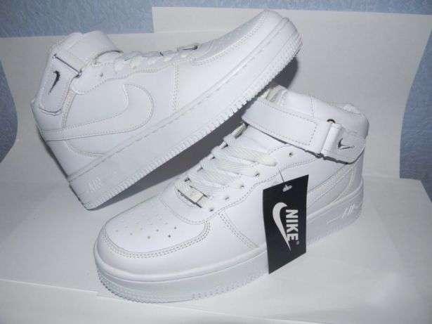 Nike Air Force High высокие белые.