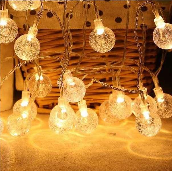 Очень красивые лампочки шары (гирлянда) светодиодные