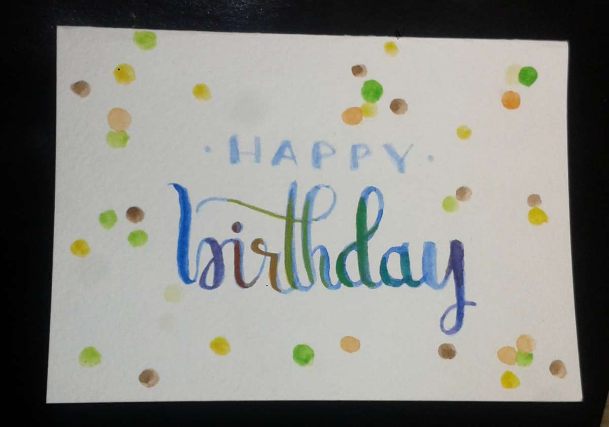 Hand made  cards .