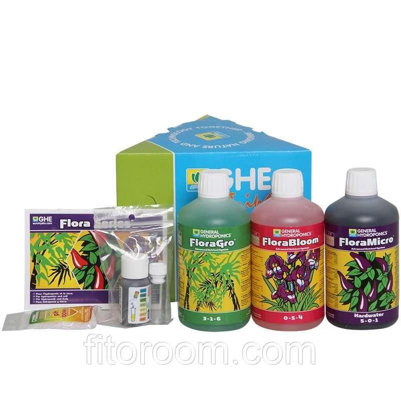 Удобрения GHE Flora Series ( FloraGrow, FloraBloom, FloraMicro)