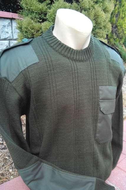 Свитер вязаный армейский зеленый олива хаки, опт и розница