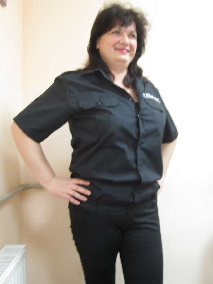 Рубашка охранника черная