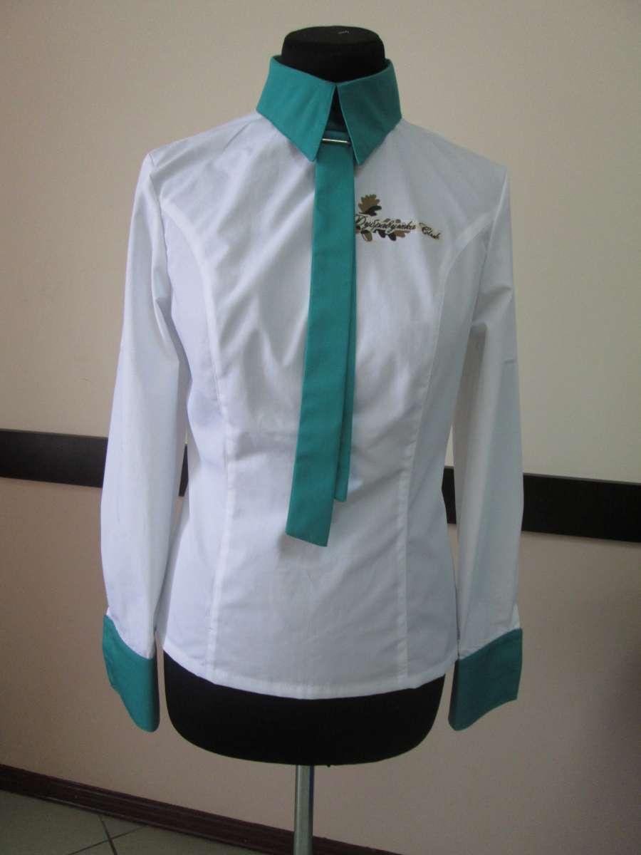 Рубашка двухцветная с галстуком
